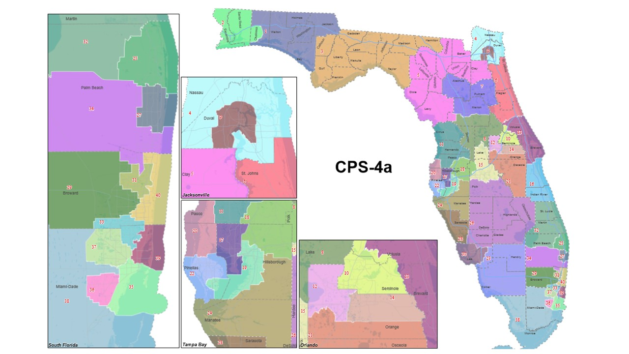 Senate Map New Florida
