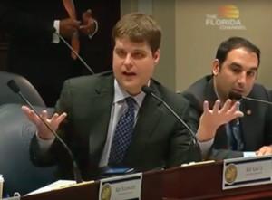 Rep. Matt Gaetz explains his crab island amendment.